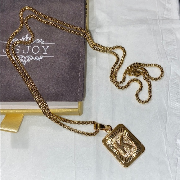JSJOY Initial Jewelry Women Gold Letter Necklaces